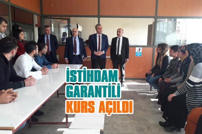 İŞKUR Tarsus Ticaret ve Sanayi Odası Ve Halk Eğitim Merkezi İşbirliğinde İstihdam Garantili Kurs Açıldı