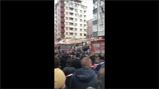 Son Dakika: İstanbul Kartal Cevizli'de 6 katlı Bina Çöktü