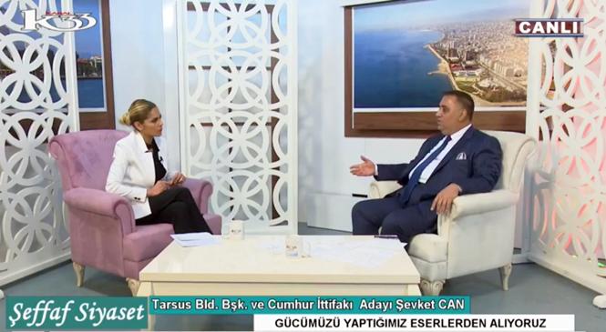 Tarsus Belediye Başkanı Can Kanal 33'e Canlı Yayın Konuğu Oldu