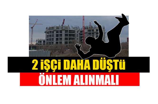 Tarsus Devlet Hastanesi İnşaatında Yine İş Kazası Yaşandı: 2 İşçi Yüksekten Düştü