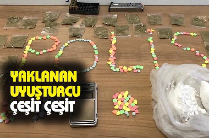 Mersin'de Polis Kokain, Yasadışı Esrar Extacy Hap, Shunk ve Metafetamin Ele Geçirildi