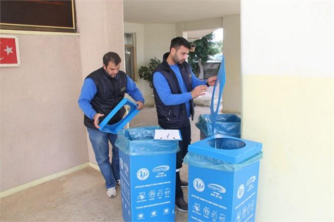 Mezitli'de Ambalaj Atıkları Kaynağında Ayrıştırılıyor