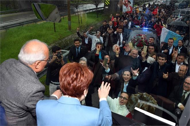 İyi Parti Lideri Akşener Mersin'de ,İyi Parti Genel Başkanı Meral Akşener, Mersin Turunda