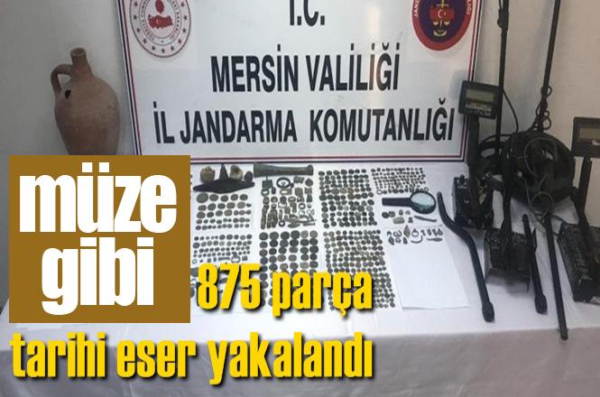 Mersin Tarsus Gülek ve Çukurbağ'daki Operasyonlarda 875 Parça Tarihi Eser Yakalandı