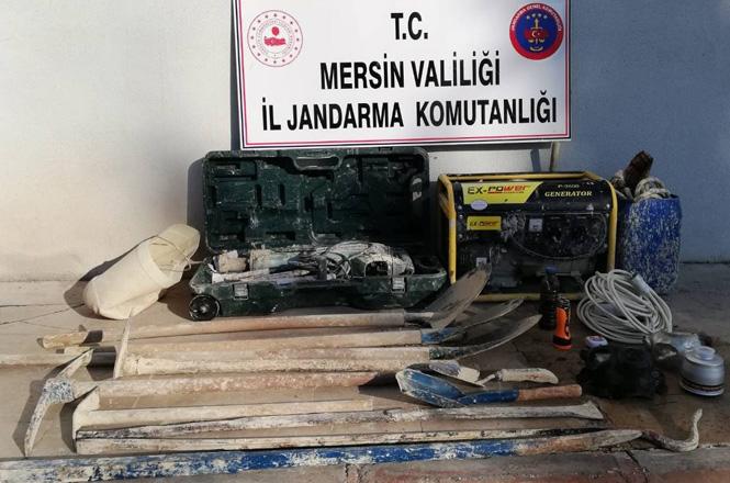 Mersin Silifke'de Defineciler Jandarmaya Yakalandı