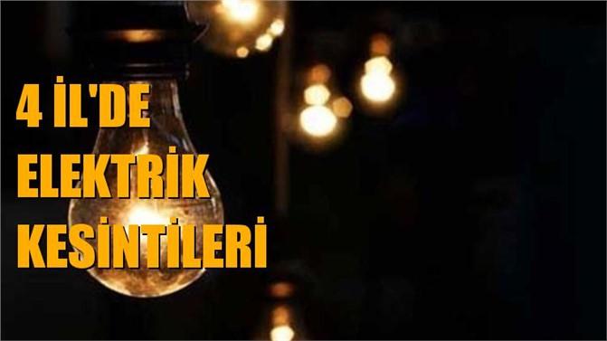 Mersin, Adana, Hatay ve Osmaniye'de Elektrik Kesintileri