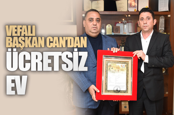 Başkan Can'dan, Şehit Hüseyin Aytürk'ün Ailesine Konut
