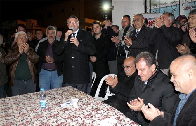 Silifke'de CHP Büyükşehir Adayı Seçer ve İlçe Belediye Başkan Adayı Turgut'a Miting Gibi Karşılama