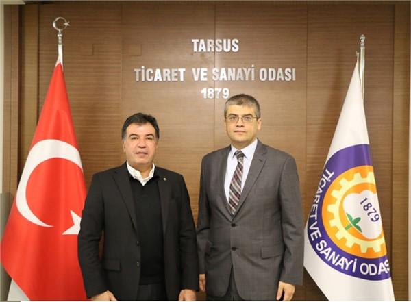 Tarsus Üniversitesi Rektörü Aydın'dan, TSO'ya Ziyaret