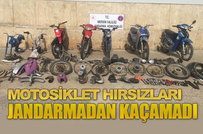 Mersin Silifke'de Jandarma Motosiklet Hırsızlarını Yakaladı
