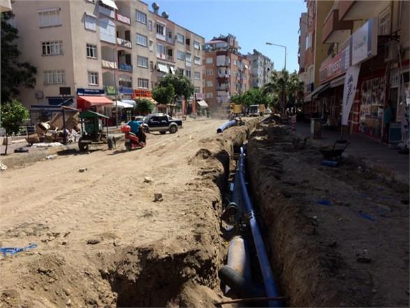 Mersin Anamur'da Asırlık Paslı İçme Suyu Boru Hattı Yenilendi