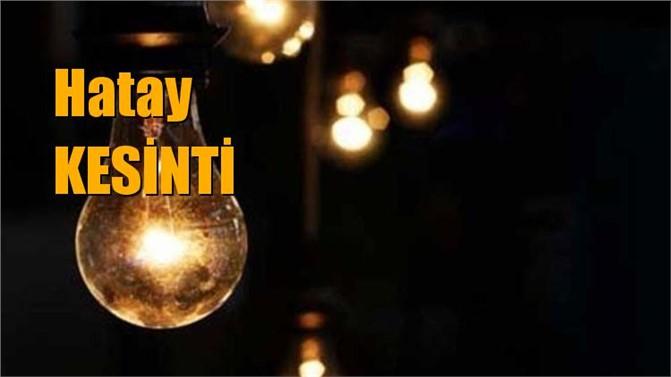 Hatay Elektrik Kesintisi 1 Mart 2019 Elektrik Kesintileri