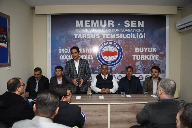 Memur Sen Tarsus Şubesi, Tarsus Belediye Başkanı Şevket Can'ı Ağırladı