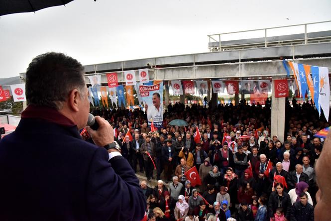 Başkan Tuna'ya, Aydıncık ve Gülnar'dan Tam Destek