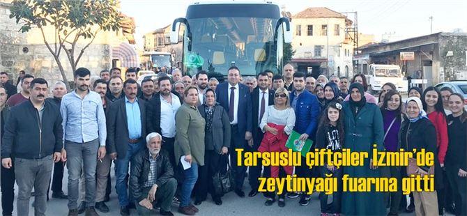 Tarsuslu Çiftçiler İzmir'de Zeytinyağı Fuarına Gitti