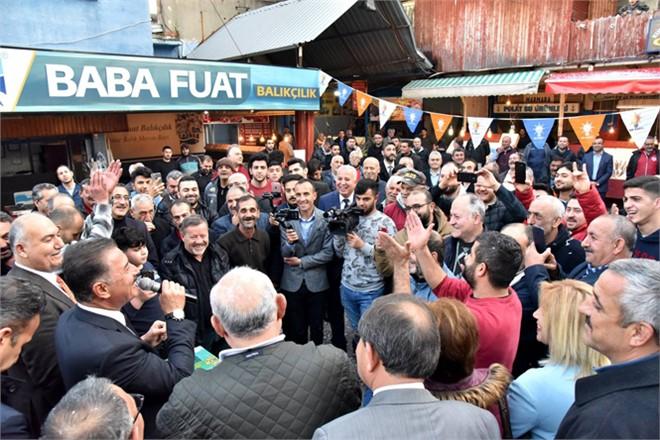 Balık Pazarı Esnafından, Başkan Tuna'ya Tam Destek