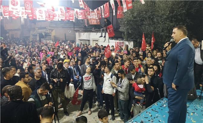 Başkan Can'ı Fevzi Çakmak ve Altaylılar Mahallelerinde Binlerce Seveni Karşıladı