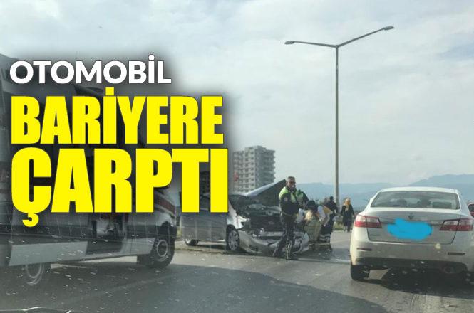 Mersin Erdemli Çeşmeli'de Trafik Kazası, Sürücüsünün Direksiyon Hakimiyetini Kaybeden Otomobil Bariyere Çarptı