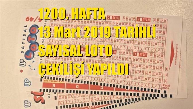 Sayısal Loto Sonuçları 13 Mart 2019 Tarihli Çıkan Sayılar: 14 - 23 - 32 - 36 - 38 - 43