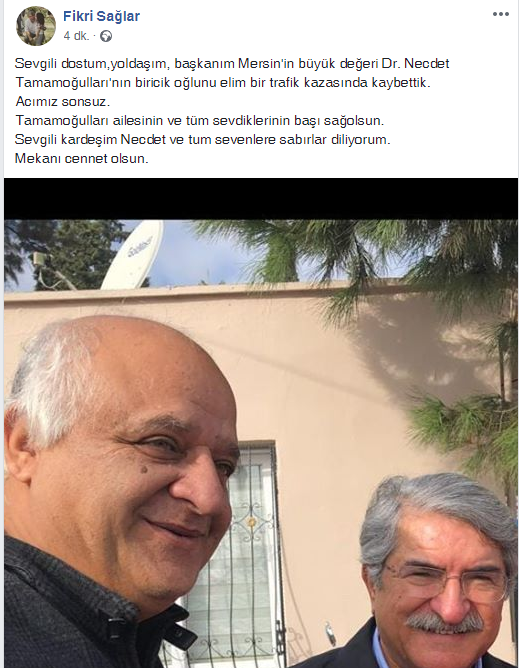 CHP Akdeniz Belediye Başkan Aday Adayı Necdet Tamamoğulları'nın Oğlu Hayatını Kaybetti