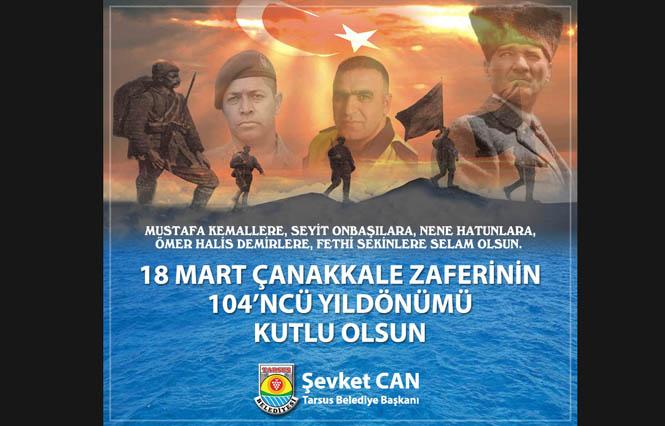 Başkan Can, 18 Mart Çanakkale Zaferi ve Şehitleri Anma Gününü Kutladı