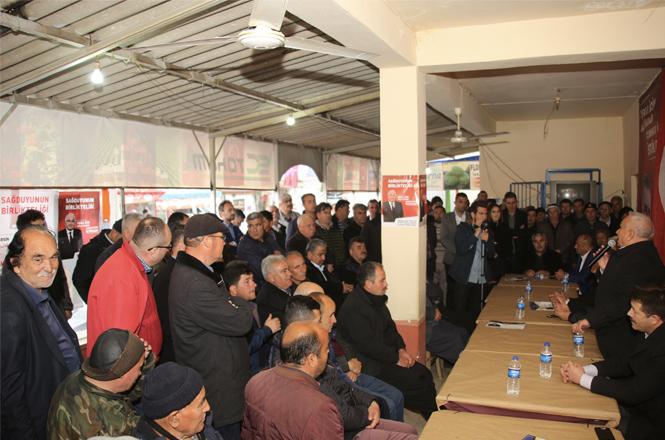 Cumhur İttifakı MHP Erdemli Belediye Başkan Adayı Mükerrem Tollu Esenpınar Mahalle Sakinleri İle Buluştu