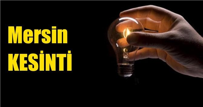 Mersin Elektrik Kesintisi 20 Mart 2019 Çarşamba Günü
