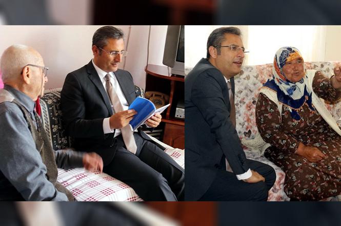 Akdeniz Belediye Başkanı Pamuk, Yaşlı Vatandaşları Evlerinde Ziyaret Etti
