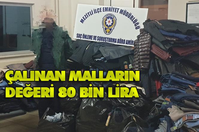 Çalınan Giyim Mağazasından Çalınan Malların Değeri 80 Bin Lira