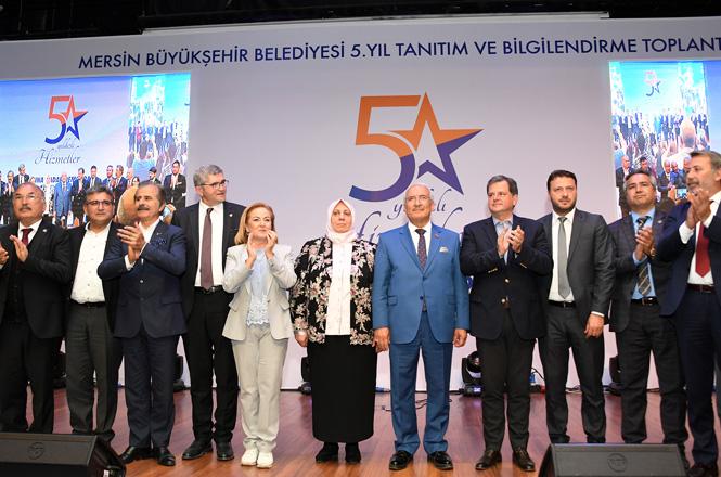 """Başkan Kocamaz: """"Mersin'e Hizmeti Bir İbadet Bildim"""" 5.Yıl Hizmet Tanıtım ve Bilgilendirme Toplantısı Yapıldı"""
