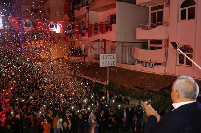 Erdemli Kızkalesi Seçim Koordinasyon Merkezi Açılışında Müjde Yağmuru