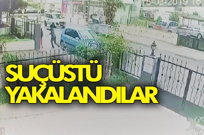 Mersin'de Cadde Üzerinde Konuşarak Yürüyen Bir Kişinin Cep Telefonunu Elinden, Kapkaç Yapan Şahıslar Suçüstü Yakalandı