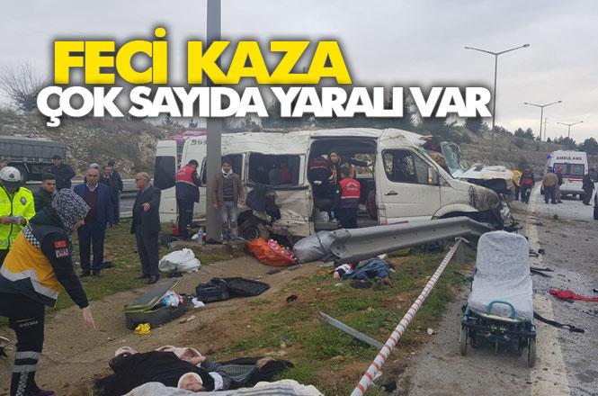 Mersin Tarsus Damlama Mevkiinde, Minibüs Kaza Yaptı: 1 Ölü 8 Yaralı