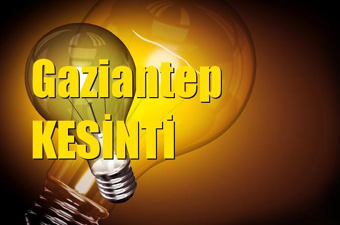Gaziantep Elektrik Kesintisi 3 Nisan Çarşamba