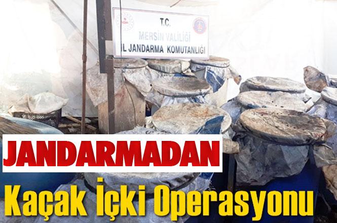 Mersin'in Tarsus İlçesinde, Jandarma Tarafından Yapılan Operasyonda 3 Bin Litre Kaçak İçki Yakalandı