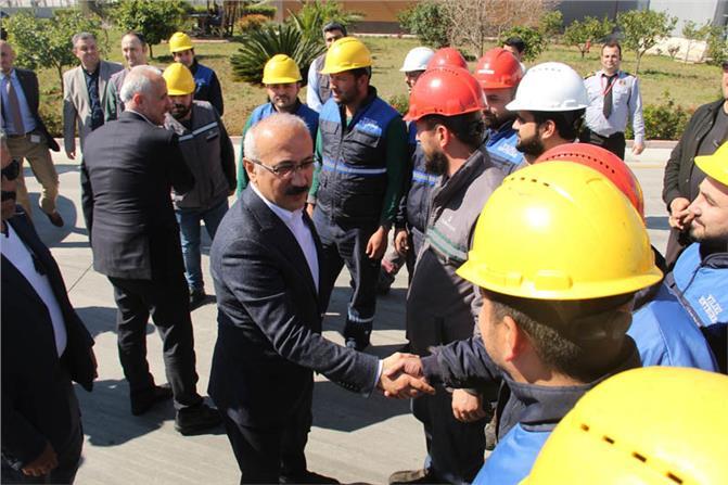 TBMM Plan ve Bütçe Komisyonu Başkanı Ve Mersin Milletvekili Lütfi Elvan, Yıldız Entegre Mersin Fabrikasını Ziyaret Etti