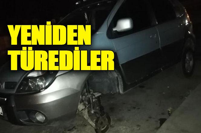 Araba Lastiği Hırsızlar Yeniden Türedi, Mersin Tarsus'ta Lastik Hırsızları Vatandaşı Tedirgin Ediyor