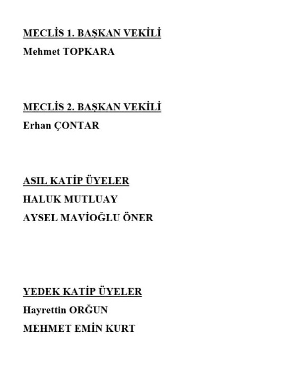 Mersin Büyükşehir Meclis Başkan Vekilleri