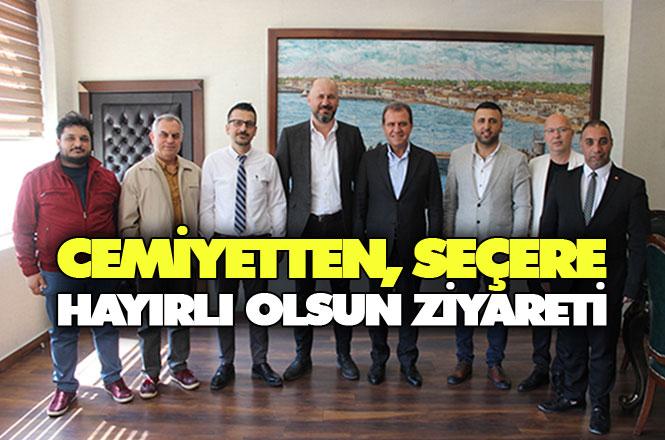 Tarsus Gazeteciler Cemiyeti, Başkan Vahap Seçer'i Ziyaret Etti