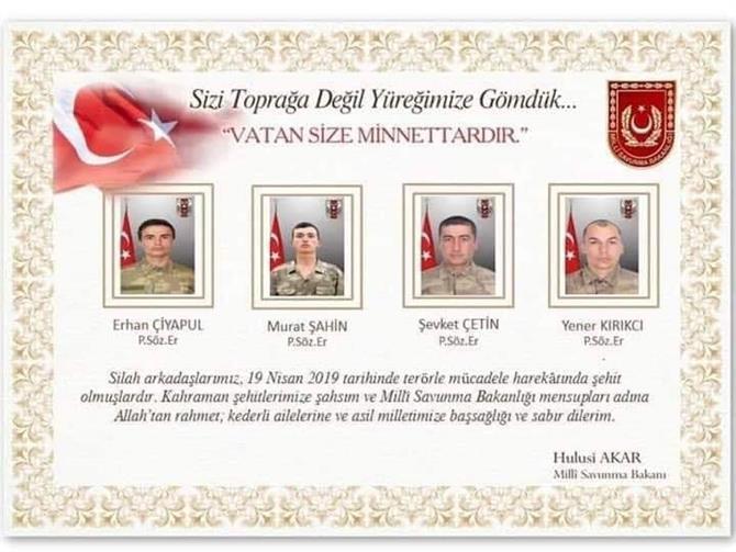 Türkiye - Irak Sınırından Acı Haber: 4 Şehit, 6 Yaralı