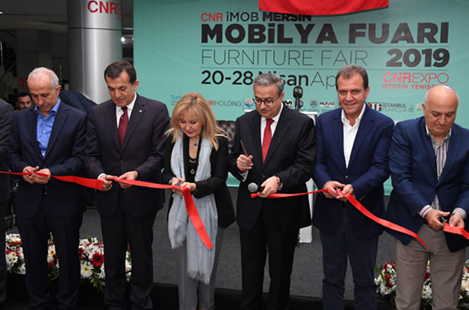 Mersin'de CNR İMOB Mersin Mobilya Fuarının Açılışı Yapıldı