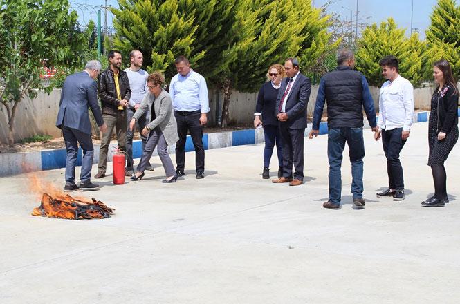 Tarsus Ticaret Borsası Personelleri 2019 Yılı Tahliye ve Yangın Tatbikatı Eğitiminde