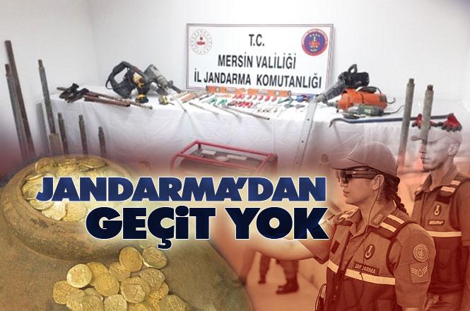 Jandarma, Mersin Tarsus Ardıçlı Mahallesi Belen'de Kaçak Kazı Yapan 1 Kişiyi Suçüstü Yakaladı