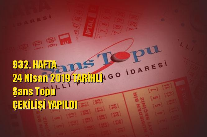 Şans Topu Sonuçları 24 Nisan 2019 Tarihli Kazandıran Sayıları Bilen 1 Kişi, Kupon Zonguldak'tan Oynanmış