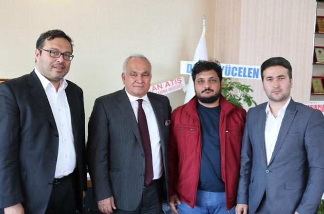 Mersin Haber ve Mersin Blok Haber'den Başkan Mükerrem Tolluya Ziyaret
