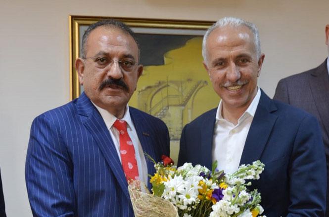 ASKON Mersin Şube Başkanı Hasan Arslan'dan Akdeniz Belediye Başkanı M. Mustafa Gültak Ziyareti