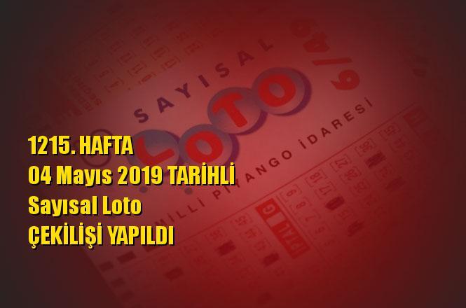 Sayısal Loto Sonuçları 04 Mayıs 2019 Tarihli Çıkan Sayılar: 05 - 15 - 24 - 28 - 33 - 36