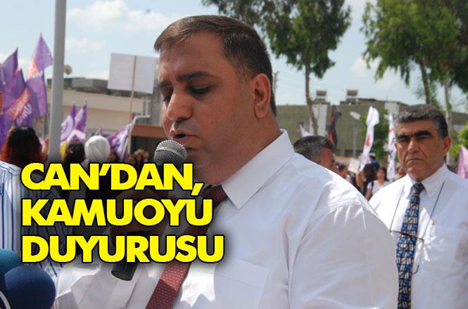 Tarsus Belediye Eski Başkanı Şevket Can'dan Kamuoyu Duyurusu