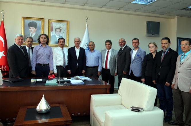 Mersin Gazeteciler Cemiyeti'nden Başkan Mustafa Gültak'a Ziyaret
