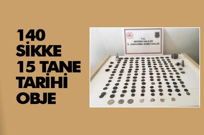 Gazitantep'ten Mersin'e Gelen Şahısların Üzerinden 140 Sikke ve Çok Sayıda Tarihi Eser Çıktı
